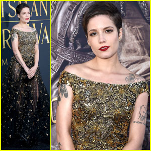 Halsey Goes Glam for 'The Huntsman: Winter's War' Premiere