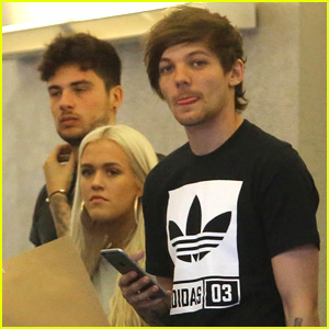 Louis Tomlinson Grabs Lunch With Sis Lottie & Baby Freddie