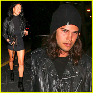 Sami Miro & Rumored New Boyfriend Alex Andre Grab Dinner at Roku