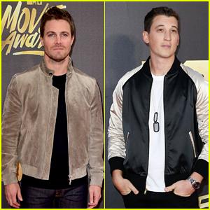 Stephen Amell Joins Miles Teller at MTV Movie Awards 2016