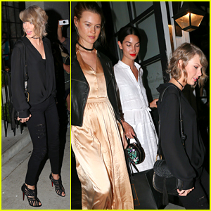 Taylor Swift Meets Lily Aldridge & Behati Prinsloo for Dinner Date