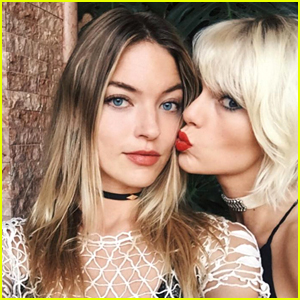 Taylor Swift Gives Martha Hunt Kisses at Coachella