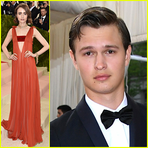 Lily Collins & Ansel Elgort Step Out for Met Gala 2016