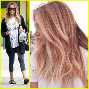 Ashley Tisdale Debuts Gorgeous New Hair Color For Young Hungry