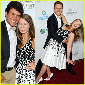 Bindi Irwin Reunites With Derek Hough at Steve Irwin Gala Dinner in LA