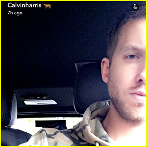 Calvin Harris Posts Many New Selfies on Snapchat