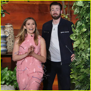 Watch Chris Evans Scare Elizabeth Olsen on 'The Ellen Show'!