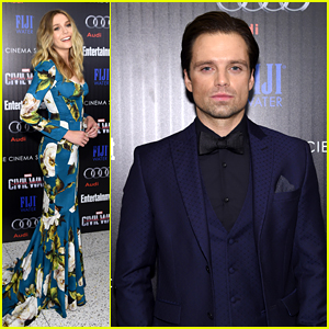 Elizabeth Olsen & Sebastian Stan Rep Team Cap at 'Captain America: Civil War' Screening