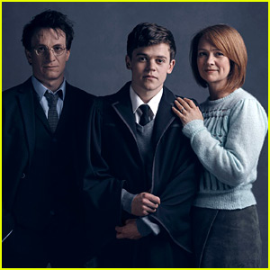 Harry Potter & Ginny Weasley Pose with Their Son for 'Cursed Child' Photos!