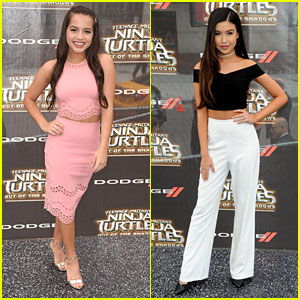 Isabela Moner & Erika Tham Doll Up For 'TMNT: Out Of The Shadows' Premiere
