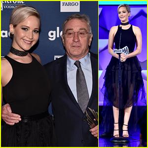 Jennifer Lawrence Honors Her 'Joy' Co-Star at GLAAD Media Awards 2016