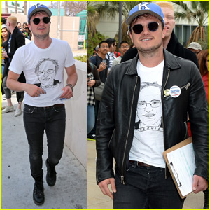 Josh Hutcherson Shows His Support for Bernie Sanders