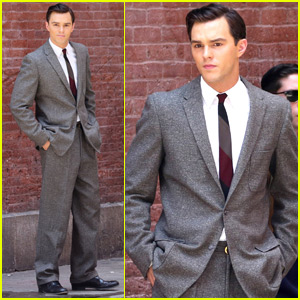 Nicholas Hoult Gets Dapper for 'Rebel in the Rye' Scene