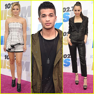 Jordan Fisher Supports BFF Olivia Holt at Wango Tango 2016 With Sofia Carson