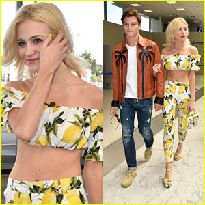 Pixie Lott & Oliver Cheshire Make Stylish Arrival in Cannes