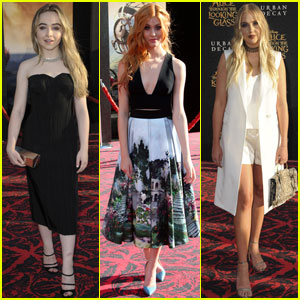 Sabrina Carpenter & Katherine McNamara Are 'Alice Through The Looking Glass' Beauties!