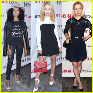 Skai Jackson & Blonde Kelli Berglund Step Out at Nylon's Young Hollywood Party