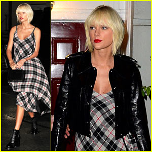Taylor Swift Rocks a Plaid Dress Before Met Ball 2016!