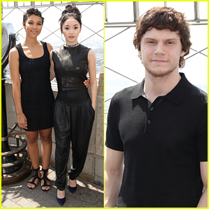 Alexandra Shipp, Lana Condor & Evan Peters Bring 'X-Men' to Empire State Building