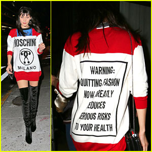 Bella Hadid Comes With A Warning Label While Stepping Out For Kate Upton's Birthday Bash