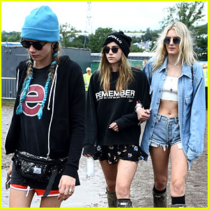 Cara Delevingne Hits Up Glastonbury Festival with Suki Waterhouse!