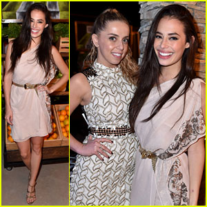 Chloe Bridges Makes It a Girls' Night Out at Just Jared & Vintage Grocers' Malibu Dinner