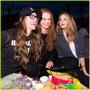 Debby Ryan & Austin Stowell Bring Friends To 'Catch A Thief' Cinespia Screening
