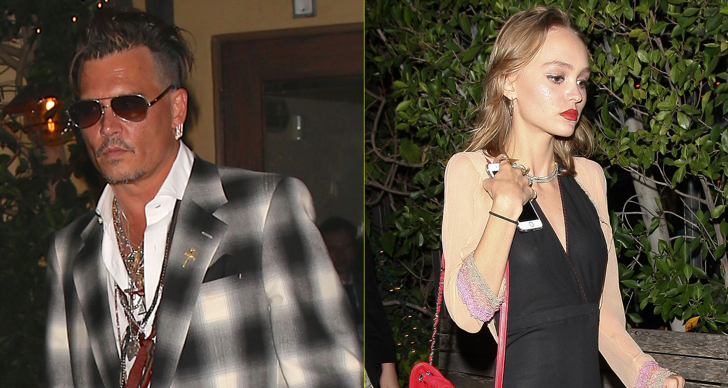 Lily-Rose Depp Grabs Dinner With Dad Johnny Depp | Johnny ...