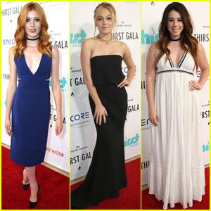 Katherine McNamara & Kelli Berglund Are Stylish Stunners at Thirst Gala 2016