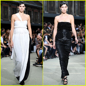 Kendall Jenner & Bella Hadid Have Matching Hair for Givenchy Show