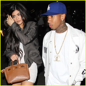 Kylie Jenner & Tyga Reunite During Kanye West Event