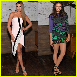 Lea Michele & Nina Dobrev Celebrate Women in Comedy