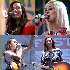 Duos Megan & Liz and Maddie & Tae Perform at CMA Music Festival