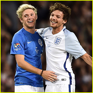 Louis Tomlinson Beats Niall Horan During Soccer Aid 2016 Match!