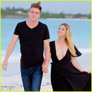 Sasha Pieterse Holds Hands With Fiance Hudson Sheaffer in the Bahamas