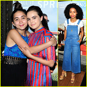 Bailee Madison, Yara Shahidi, Rowan Blanchard & More Step Out For Selena Gomez's LA Concert