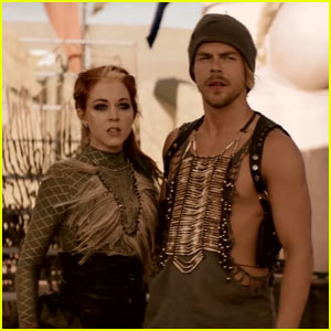 Derek Hough Dances Up a Storm in Lindsey Stirling's 'The Arena' Video - Watch Here!