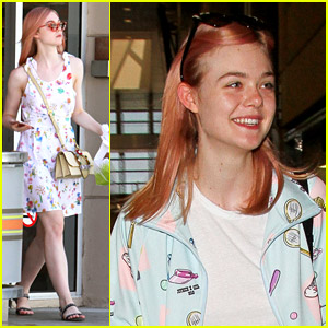 Elle Fanning Reveals Her 'Dusty Rose' Hair Color!