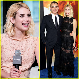 Emma Roberts Skips Question on Lea Michele & Ariana Grande for 'Plead the Fifth'