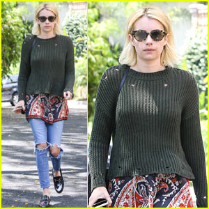 Emma Roberts Goes Casual While Checking Out New Houses!