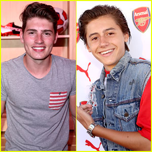 Gregg Sulkin Chills With Arsenal Soccer Players at Puma Reveal