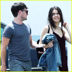 Josh Hutcherson Gets Visit From Girlfriend Claudia Traisac On Movie Set in LA