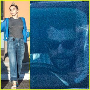 Liam Hemsworth Waits in Car While Miley Cyrus Does a Pet Store Run