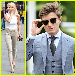 Oliver Cheshire Takes Dad Graham To The Races While Pixie Lott Stays in London
