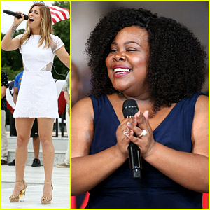 Cassadee Pope & Amber Riley Get in Their 'Capitol Fourth' Rehearsals!