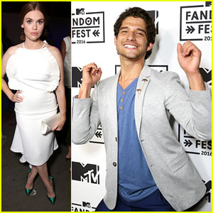 Tyler Posey & Holland Roden Celebrate 'Teen Wolf's Fandom Of The Year Win at Fandom Awards 2016