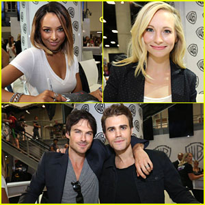 Kat Graham & Candice King Hit Signing Booth After Revealing Character's Stories for 'Vampire Diaries' Season 8