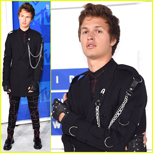 Ansel Elgort Channels Edward Scissorhands at MTV VMAs 2016