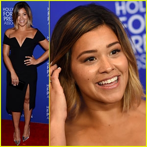 Gina Rodriguez Has a 'Notting Hill' Fantasy at HFPA Event