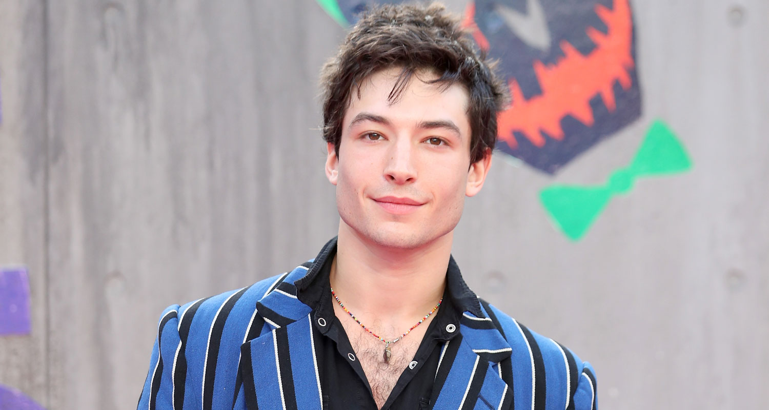 Ezra Miller Gets Carried Away At Suicide Squad Premiere